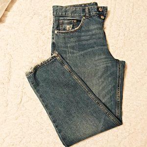 🆕 Boyfriend low waist crop denim